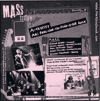 M.A.S.S. Testify back cover